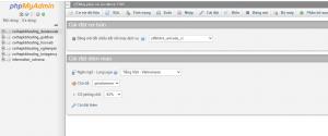 bước 7: chọn database