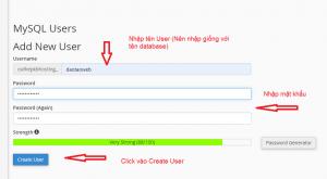 tạo user SQL